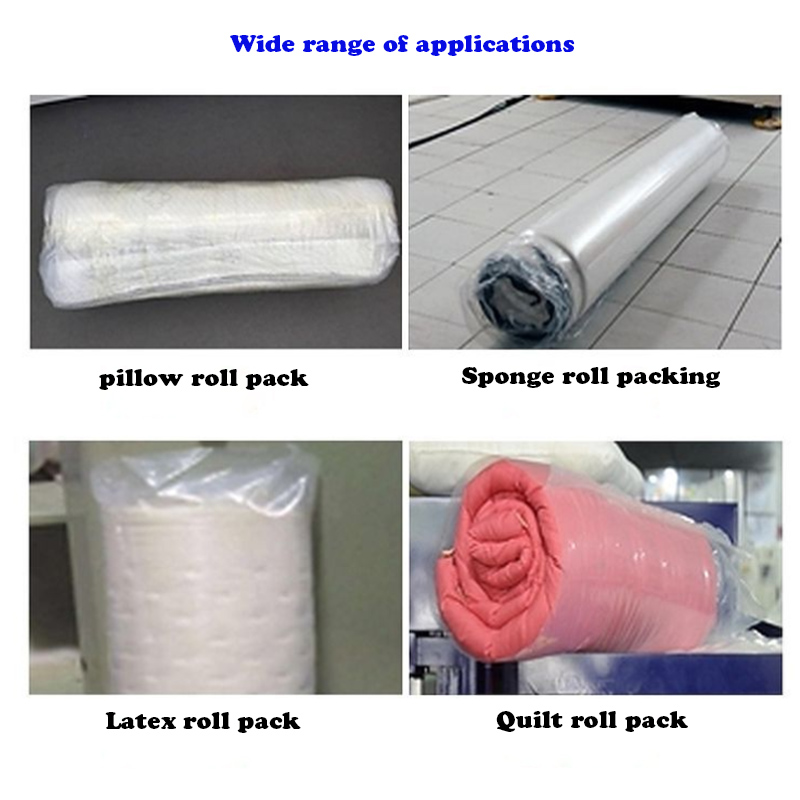 pillow roll packing machine applications